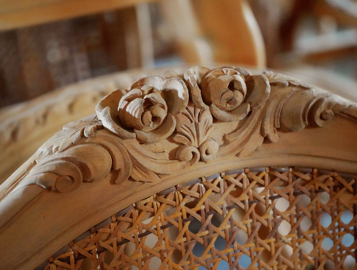 hand carved french Louis XV chair | P.& G. Cugini Lanzani